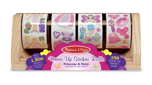 Большой набор наклеек для девочек  на ролике, 1300 шт.