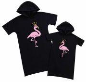 """Набор именных платьев для мамы и дочки """"Фламинго"""" (персонализация)"""