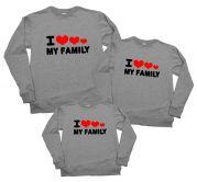"Набор из 3х свитшотов ""I love my family"""