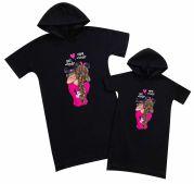 """Пара платьев для мамы и дочки """"Minnie Mouse"""""""