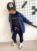 """Детские брюки джоггеры для мальчика """"MATE"""" (синий)"""