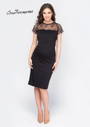 """Элегантное вечернее платье для беременных с изящным кружевом """"Allure"""""""