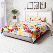 Комплект постельного белья Пазлы евро (50х70)