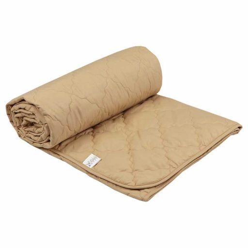Шерстяное одеяло 52ШКУ бежевое облегченное 200х220 см
