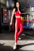 Лосины TOTALFIT FLASH-SPOT LG142-C46 L Красный