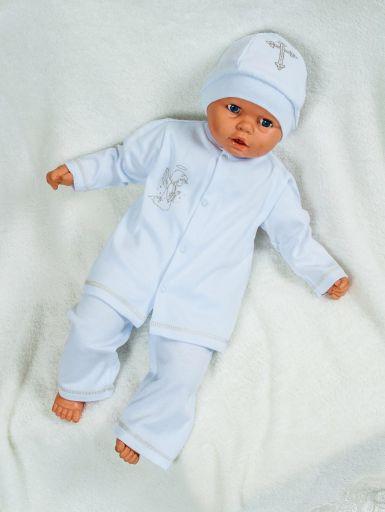 """Крестильный комплект для новорожденного мальчика из нежнейшего трикотажного полотна """"Крестник"""""""