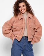 Женская демисезонная куртка из овчины X-Woyz LS-8888-25