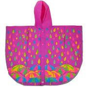 Дождевик-пончо YES со светоотражающим кантом «Яркие зонтики»
