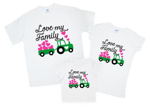 "Набор футболок для семейного использования ""LOVE MY FAMILY"""